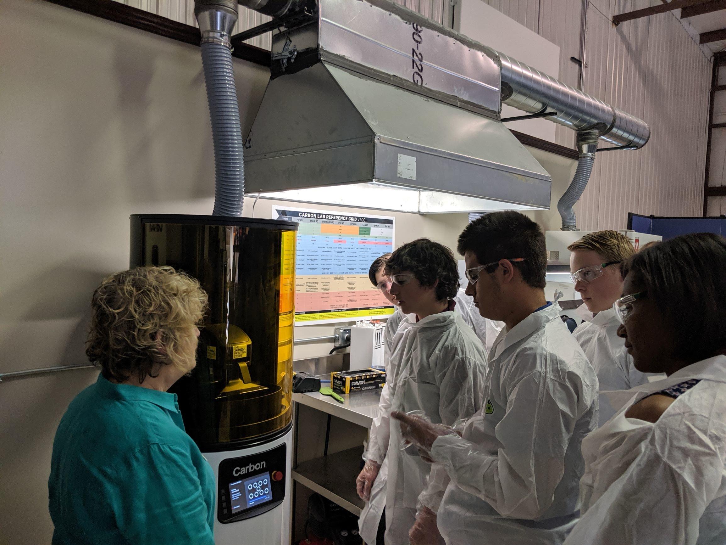 CSBR Aerospace Interns Visit The 3D Printing Store
